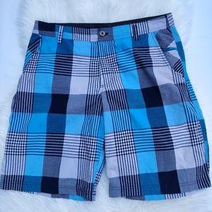 Lululemon Blue Plaid Check Casual Shorts Men's 36